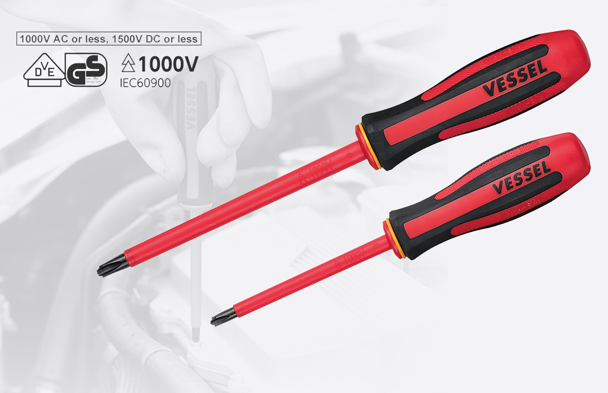 MEGADORA Insulated Screwdrivers Series certified by VDE